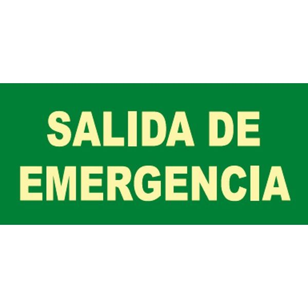 CARTEL FOTOLUMINISCENTE SALIDA EMERGENCIA (B) 297x148mm.