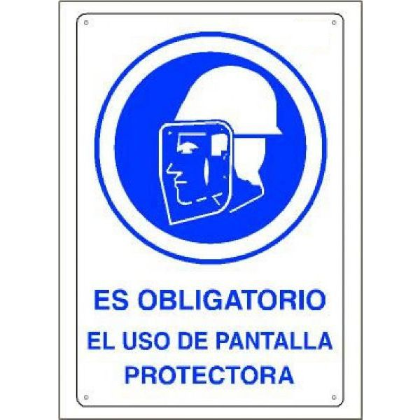 CARTEL OBLIGATORIO PANTALLA PROT. (3,2mm.) 45x30cm.