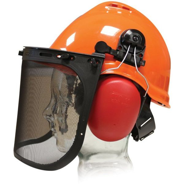 CASCO FORESTAL C/PROTECTOR AUDITIVO C/REJ.