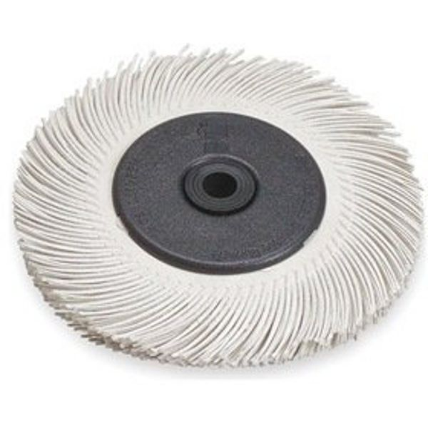 CEPILLO RADIAL BRISTLE BLANCO CURVO 150mm. (P120)