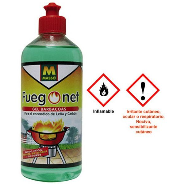 GEL ENCENDIDO FUEGO-NET 500ml.