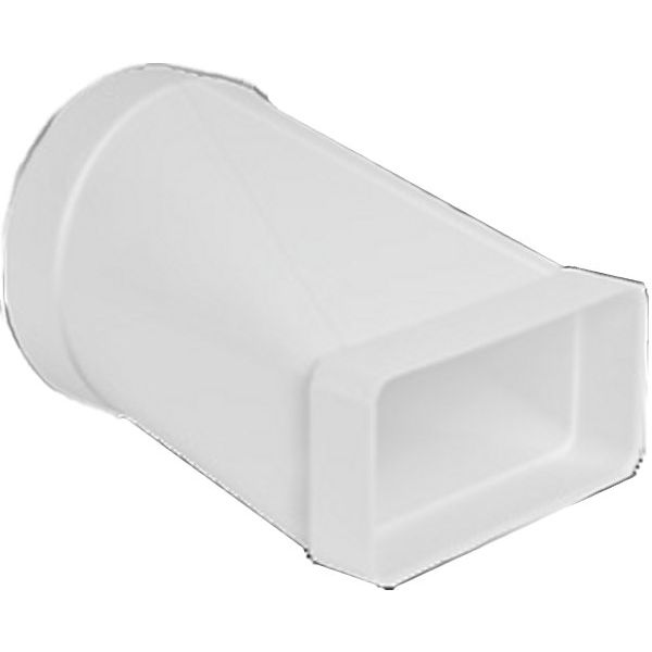 MANGUITO PVC BLANCO MIXTO (RED./RECT.) 120mm./147x70mm.